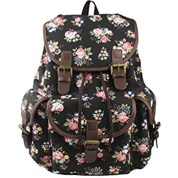 Amazon.com  Imiflow Backpack for School Girls College Schoolbags Casual  Laptop Purses Book Bags 163 Black  Imiflow 0c2d6694f80b7