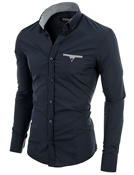 Casual Slim VGD063LS Chemise Fit Coton Homme MODERNO w1Uxqx