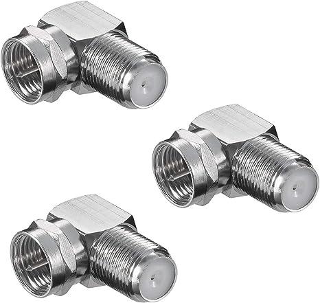 2 x F-Quick Winkel Adapter Verbinder Stecker Kupplung F-Stecker Winkelstecker