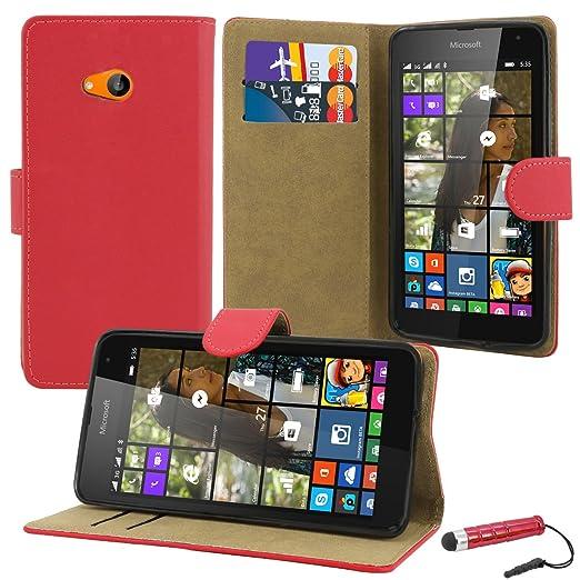54 opinioni per Microsoft Lumia 535–Premium Custodia a Libro in Pelle + Pellicola Protettiva