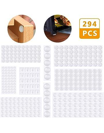 Lagrimas Silicona,Emooqi 294 Piezas Pies de Goma Transparentes,Gotas Silicona Adhesivas,Almohadilla