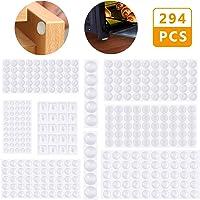 Lagrimas Silicona,Emooqi 294 Piezas Pies de Goma Transparentes,Gotas