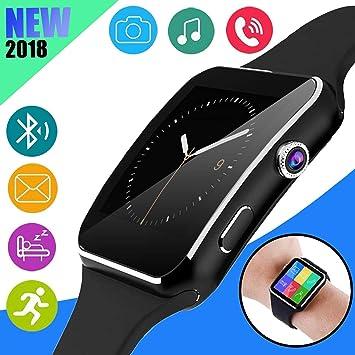 Smart Watch - Reloj inteligente Bluetooth desbloqueado para niños y mujeres hombres con cámara y podómetro