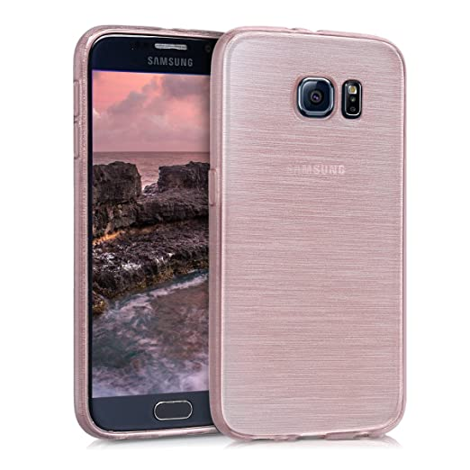 kwmobile Samsung Galaxy S6 / S6 Duos Hülle - Handyhülle für Samsung Galaxy S6 / S6 Duos - Handy Case in Rosegold Transparent