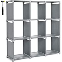 SONGMICS 9 Cube DIY Storage Shelves Open Bookshelf Closet Organizer Rack Cabinet