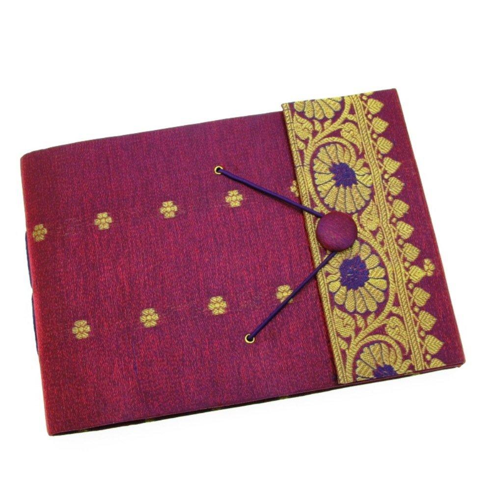 Paper High Sari Photo Album Medium 260 x 180mm Purple