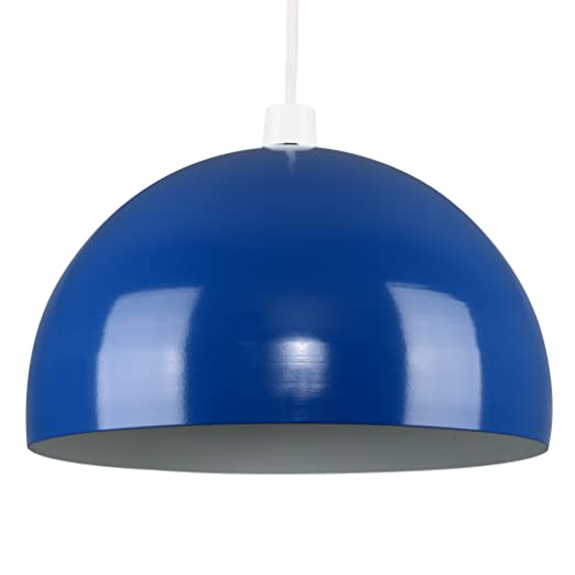Modern gloss royal blue metal dome ceiling pendant light shade modern gloss royal blue metal dome ceiling pendant light shade aloadofball Image collections