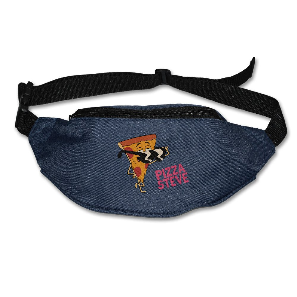 Pizza Steve Sunglasses Adjustable Belt Outdoor Sports Pouch Navy