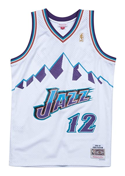 pretty nice c0fbb 8e8fb john stockton throwback jersey