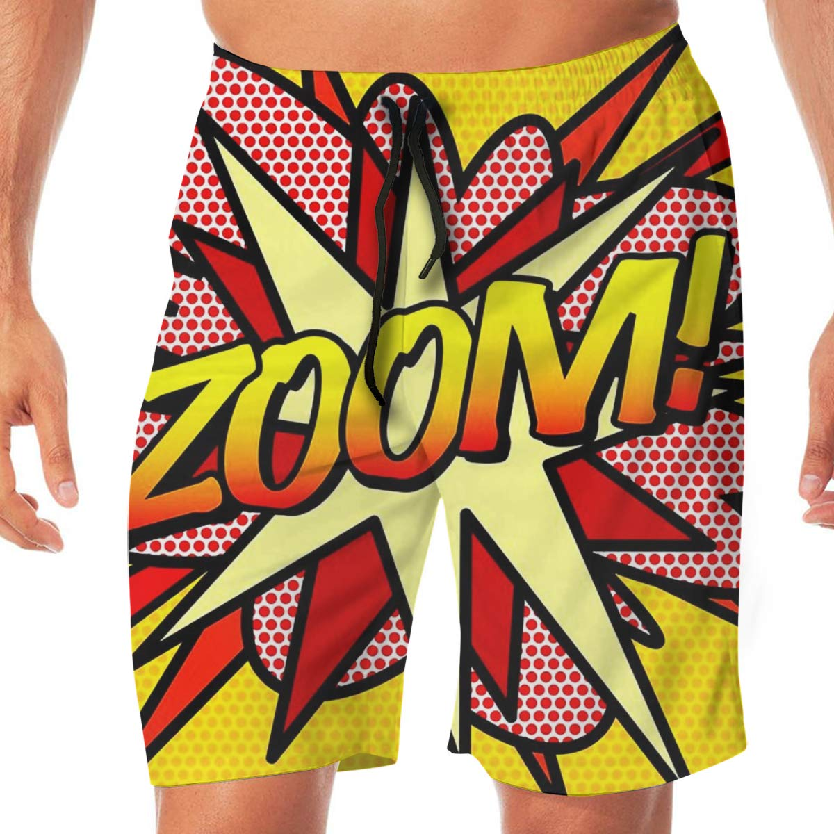 FUNSTYEET Mens Board Shorts Zoom Holiday Swim Trunks Mesh Lining