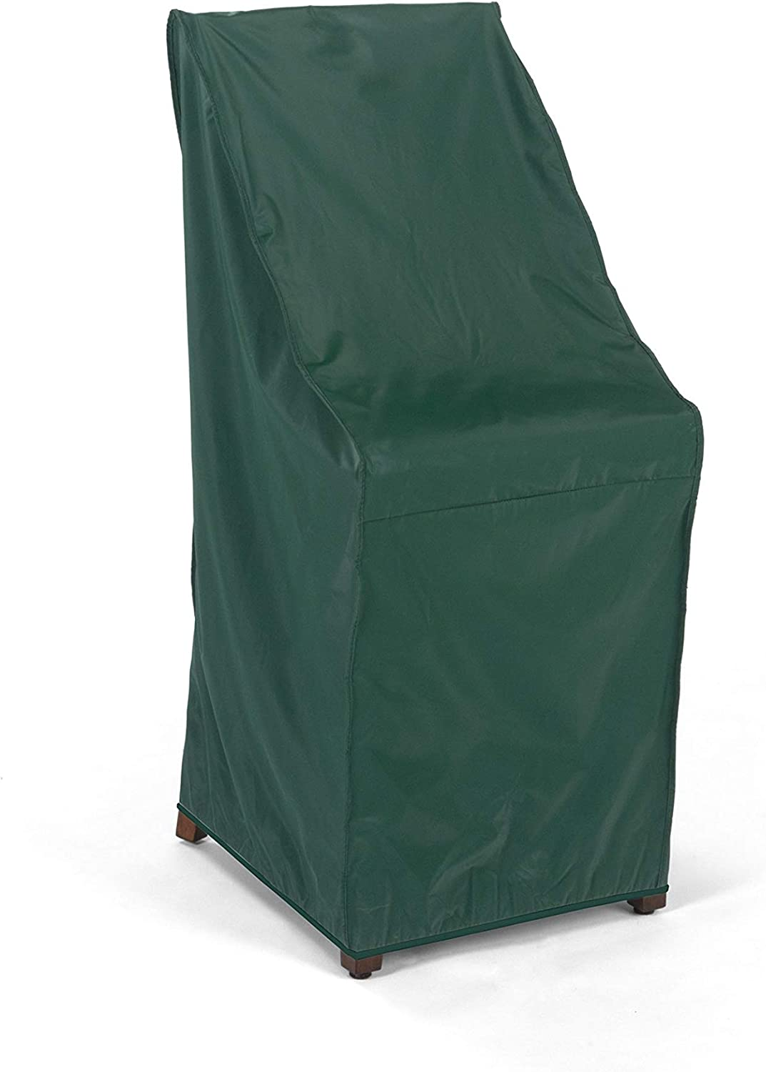 Covermates Stacking Chair Cover 28W x 34D x 52H Classic Collection 2 YR Warranty Year Around Protection – Green