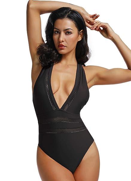 Amazon.com: Bikini sexy de una pieza para mujer, traje de ...