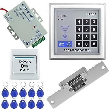 RFID Exit Button RFID Access Control System Set Strike Door Lock Power