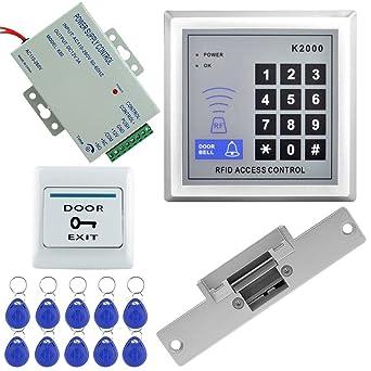LIBO Kit Conjunto de Kit de Sistema de Control de Acceso RFID Teclado Independiente con Cerradura
