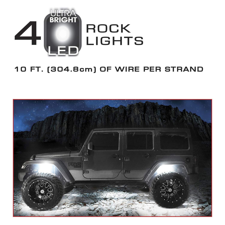 Truck Tuff 23891 White Rock Lights 4 Pack