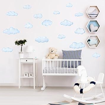 Decowall Dw 1702 Nuvole Adesivi Da Parete Decorazioni Stickers Murali Soggiorno Asilo Nido Camera Letto Per Bambini Decalcomanie Amazon De Baby
