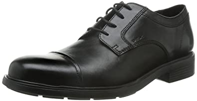 Chaussures à lacets Geox noires Casual homme LCrL7Fxlzw
