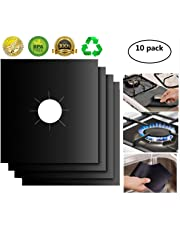 XZSUN Gas Stove Burner Covers 10 Pack 0.2mm Double Thickness Reusable Gas Range Protectors for