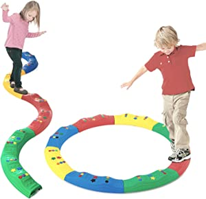 Artoflifer Kids Indoor and Outdoor Balance Beam Balance Blocks Gym Toys for Kids Promote Balance, Strength, Coordination Toddler Obstacle Course Floor Games for Kids Preschool Learning Toy