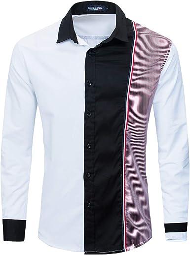 Camisa de Bolsillo de Manga Larga de Ajuste Regular para ...