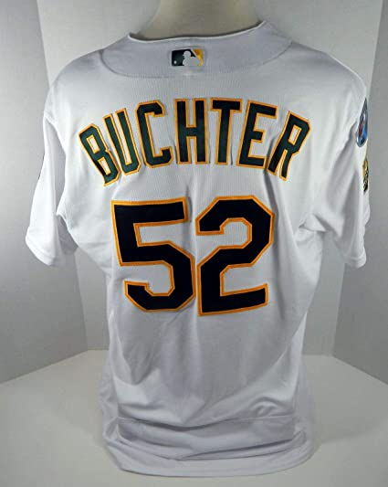 03dd0a7244d 2018 Oakland Athletics A s Ryan Buchter  52 Game Issued White ...