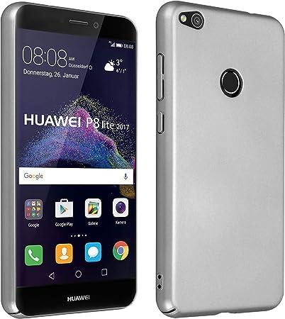 Cadorabo Custodia per Huawei P8 Lite 2017 in Argento Metallo - Rigida Cover Protettiva Sottile con Bordo Protezione - Back Hard Case Ultra Slim Bumper ...