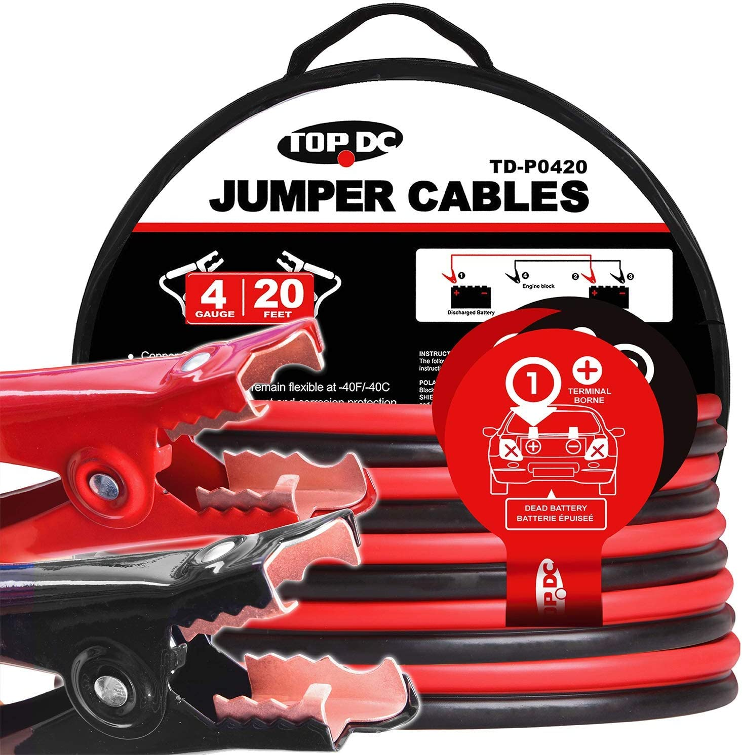 TOPDC Cables for Jump-Start