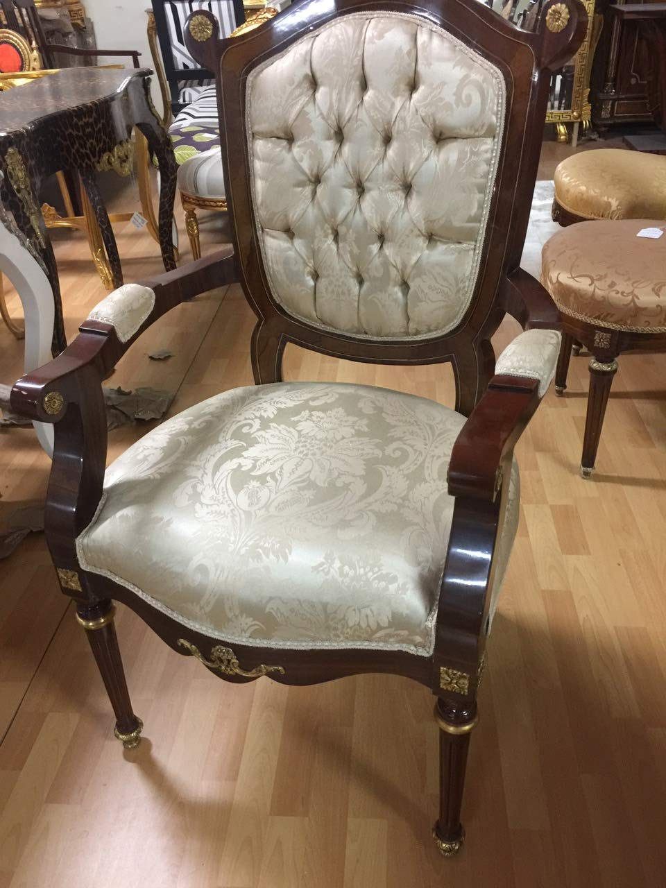LouisXV estilo barroco estilo antiguo MoCh1105A silla ...