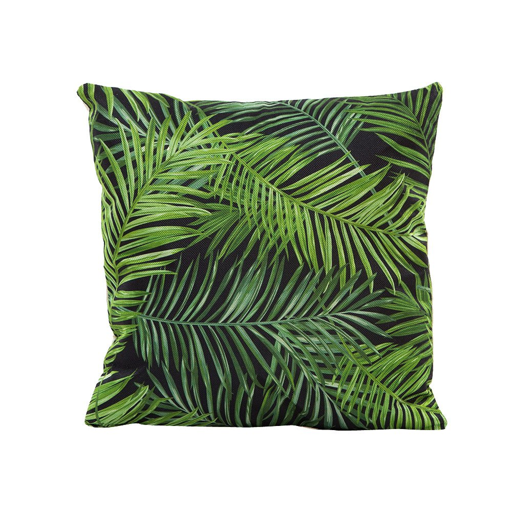 Pgojuni Flowers Grass Pattern Cushion Cover Throw Pillow Cover Accent Cushion Cover Square Pillow Case for Sofa/Car/Bed Home Decor 1pc (E)