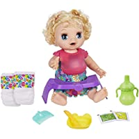 Baby Alive Happy Hungry Baby Blond Curly Hair Doll, Makes 50+ Sounds & Phrases,...