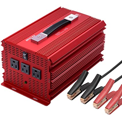 12v Power Inverter >> Amazon Com Bestek 2000 Watt Power Inverter Dc 12v To Ac 110v Power