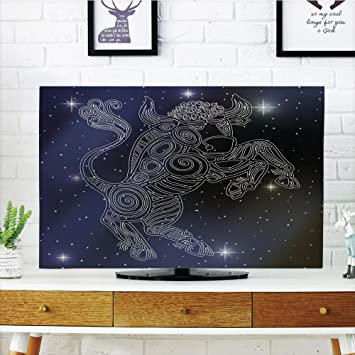 VAMIX - Funda para televisor LCD, diseño Colorido de Taza de té, diseño de Dibujos Animados, decoración de Desayuno, diseño de impresión 3D Compatible con TV de 55 Pulgadas: Amazon.es: Electrónica