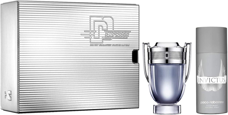Paco Rabanne Invictus Eau de Toilette 100 ml + Desodorante Spray 150 ml, 0.25 g