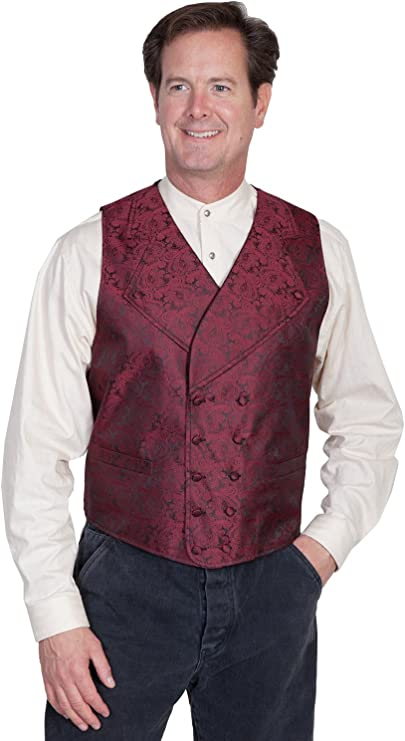 Men's Steampunk Vests, Waistcoats, Corsets Wide Notched Lapel Vest  AT vintagedancer.com