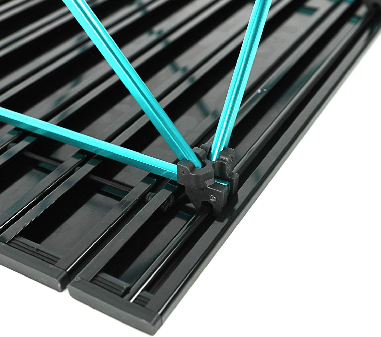 couche sup/érieure en maille EVER ADVANCED Table pliante portable en aluminium avec un pied r/églable en hauteur enroulable blanc 1