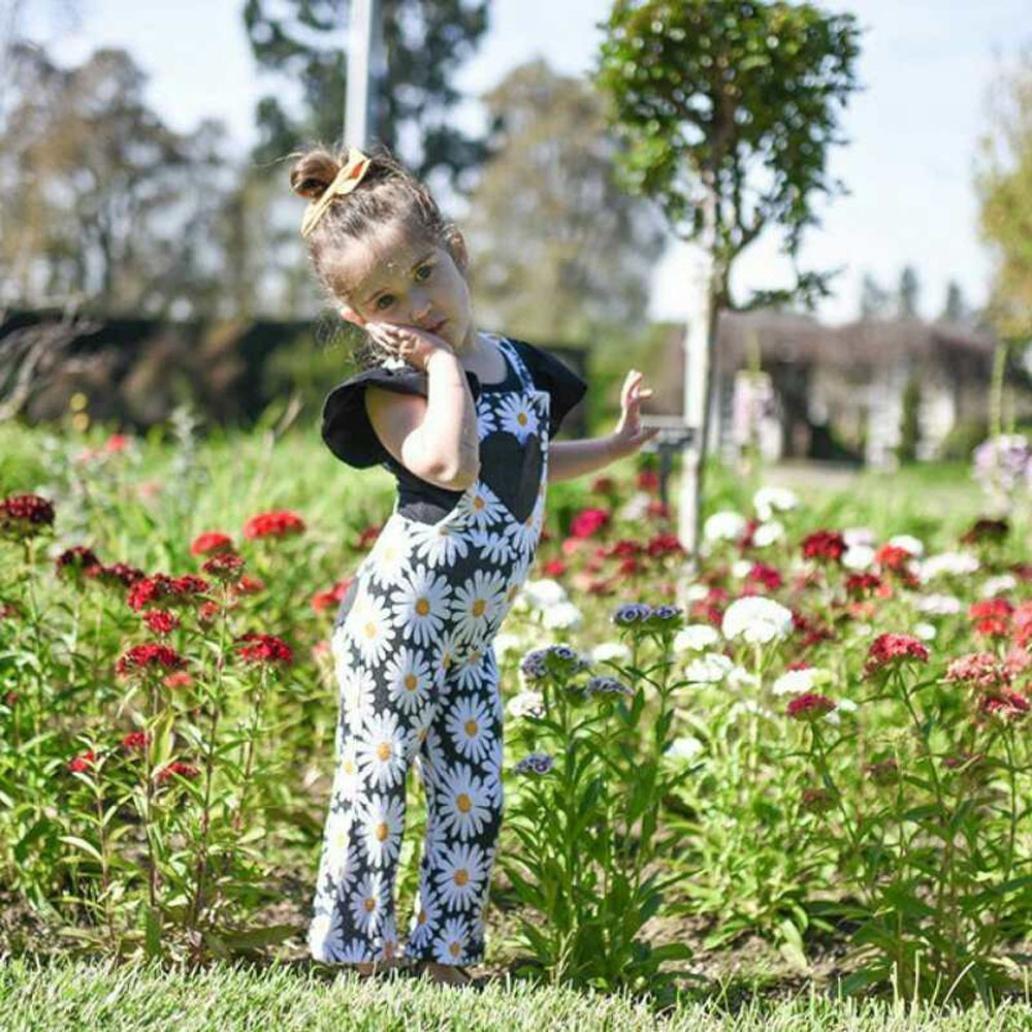 ZP-CCYF Happy Birthday Elephant Toddler Baby Girl Ruffle Short Sleeve T-Shirt Soft Cotton T Shirts