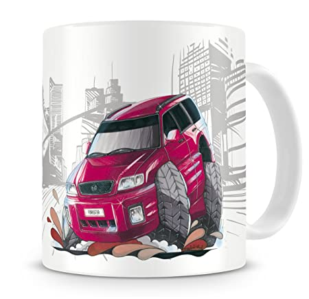 Koolart Cartoon Caricature Of Subaru Forester Coffee Mug Amazon