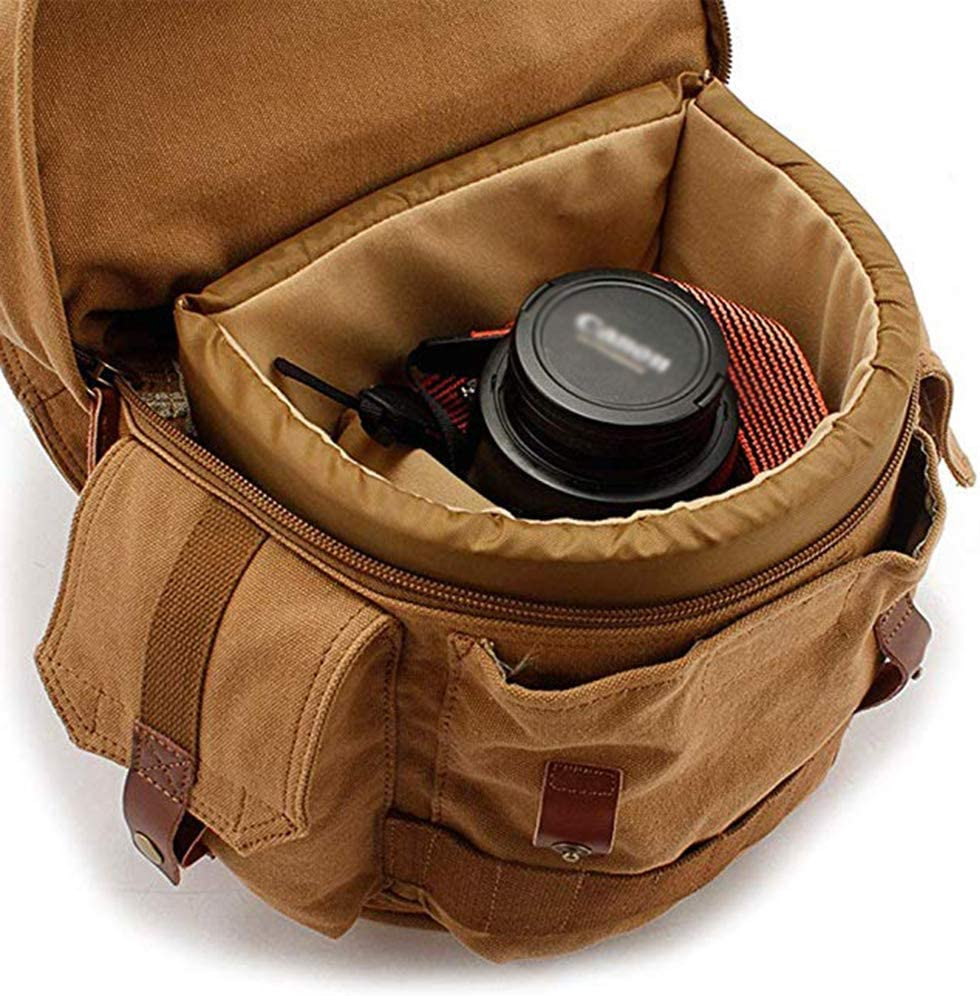 SHZJZ-BP Mens SLR Camera Bag Backpack Photograph Bag Digital Package Take It on A Long Trip