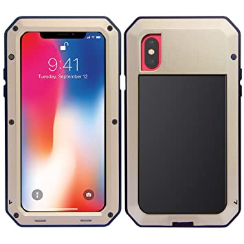 MRSMR iPhone X Funda, Apple iPhone 10 Protección de 360 Grados Impermeable Heavy Duty Cáscara, A Prueba de Choques con Protector de Pantalla ...