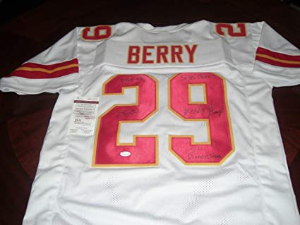 80444d6f4 Eric Berry Autographed Jersey - Dpoy 08 Strong White coa - JSA ...