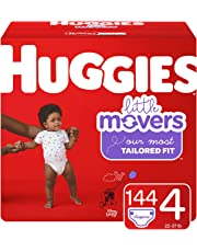 Huggies Little Movers Diapers, Size 4 (22-37 lb.), 144 Ct, Economy Plus Pack (Packaging May Vary)