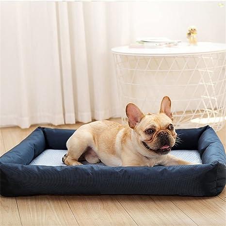 STAZSX Cama de Perro de Verano de Doble Uso Perro Cama Perro sofá Estera Estera removible