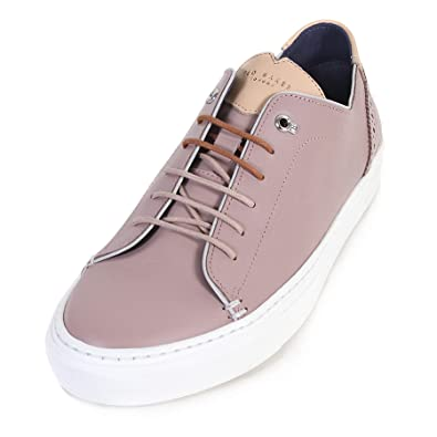 9022e2fb1ed3 Ted Baker Men s Kiing Leather Lace Up Trainer Light Pink-Pink-8 ...