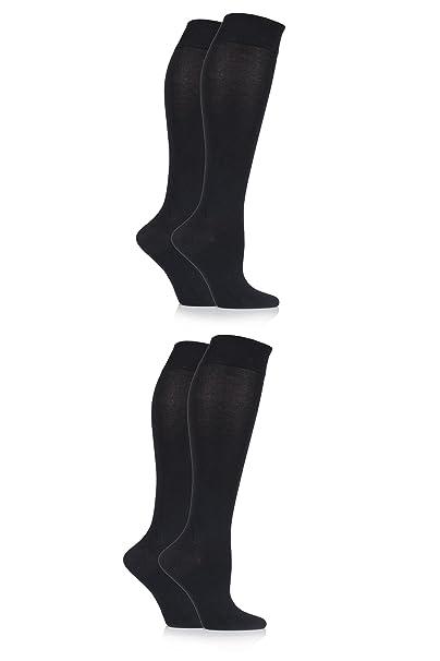 d4c625d17 Ladies' 4 Pair Sockshop Plain Bamboo Knee High Socks - Black 6-10 at Amazon  Women's Clothing store: