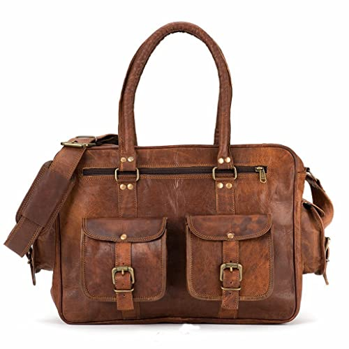 Amazon.com  PASCADO Genuine Vintage leather weekender overnight travel  luggage duffle tote bag for men women  Handmade d1868b0a4c9fa