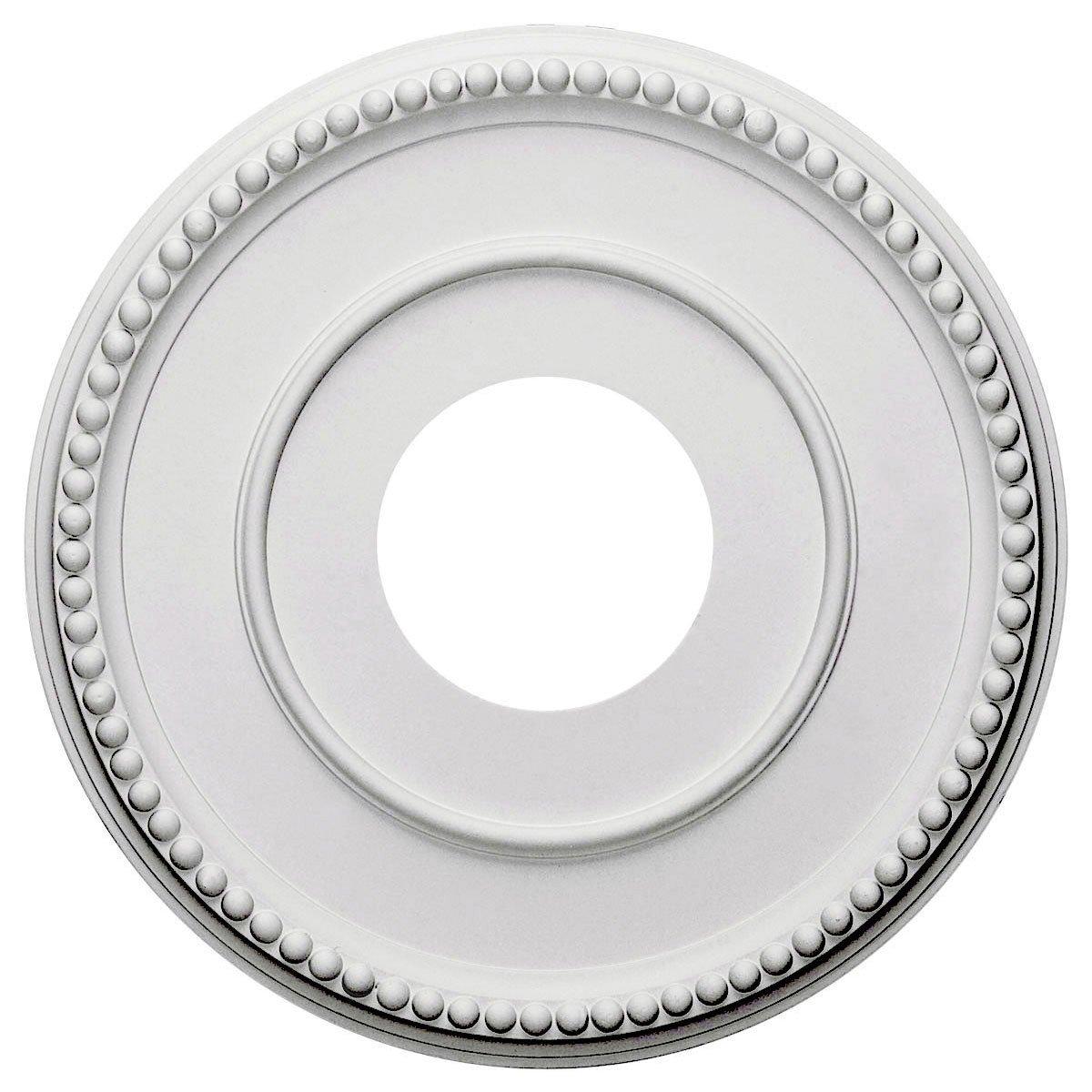 "Ekena Millwork CM12BR Ceiling Medallion, 12 1/2""OD x 3 7/8""ID x 3/4""P, Primed"