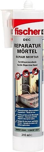 fischer DEC Reparaturmörtel, geruchsarmer Mörtel, witterungsbeständige Dichtmasse für Innen- und Außenbereich, Kartusche für zahlreiche Anwendungen…