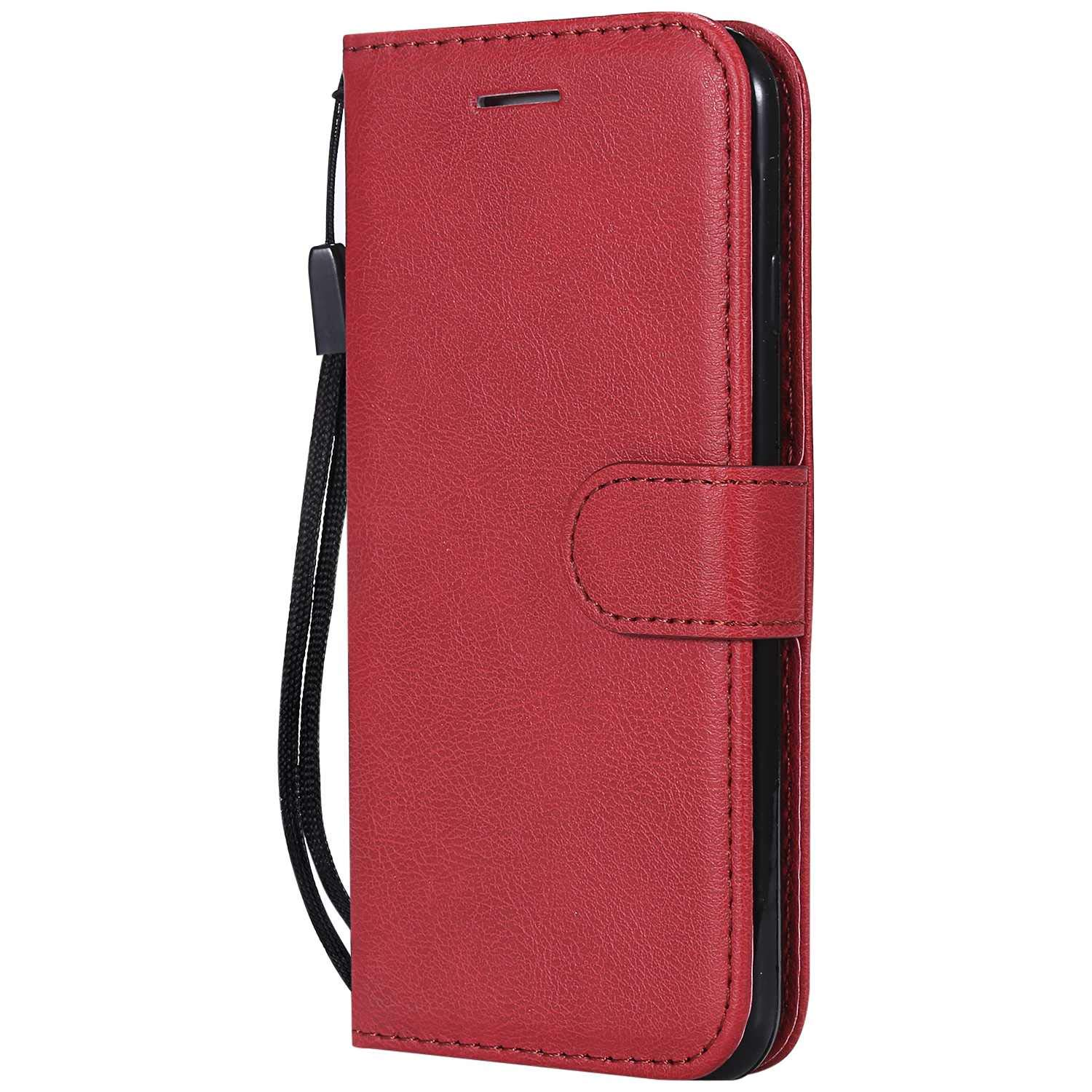 iPhone 7/8 Case, The Grafu Shockproof Leather Wallet Flip Case with [Card Slots] [Wrist Strap] Stand Function Cover for Apple iPhone 7 / iPhone 8, Red by The Grafu (Image #1)