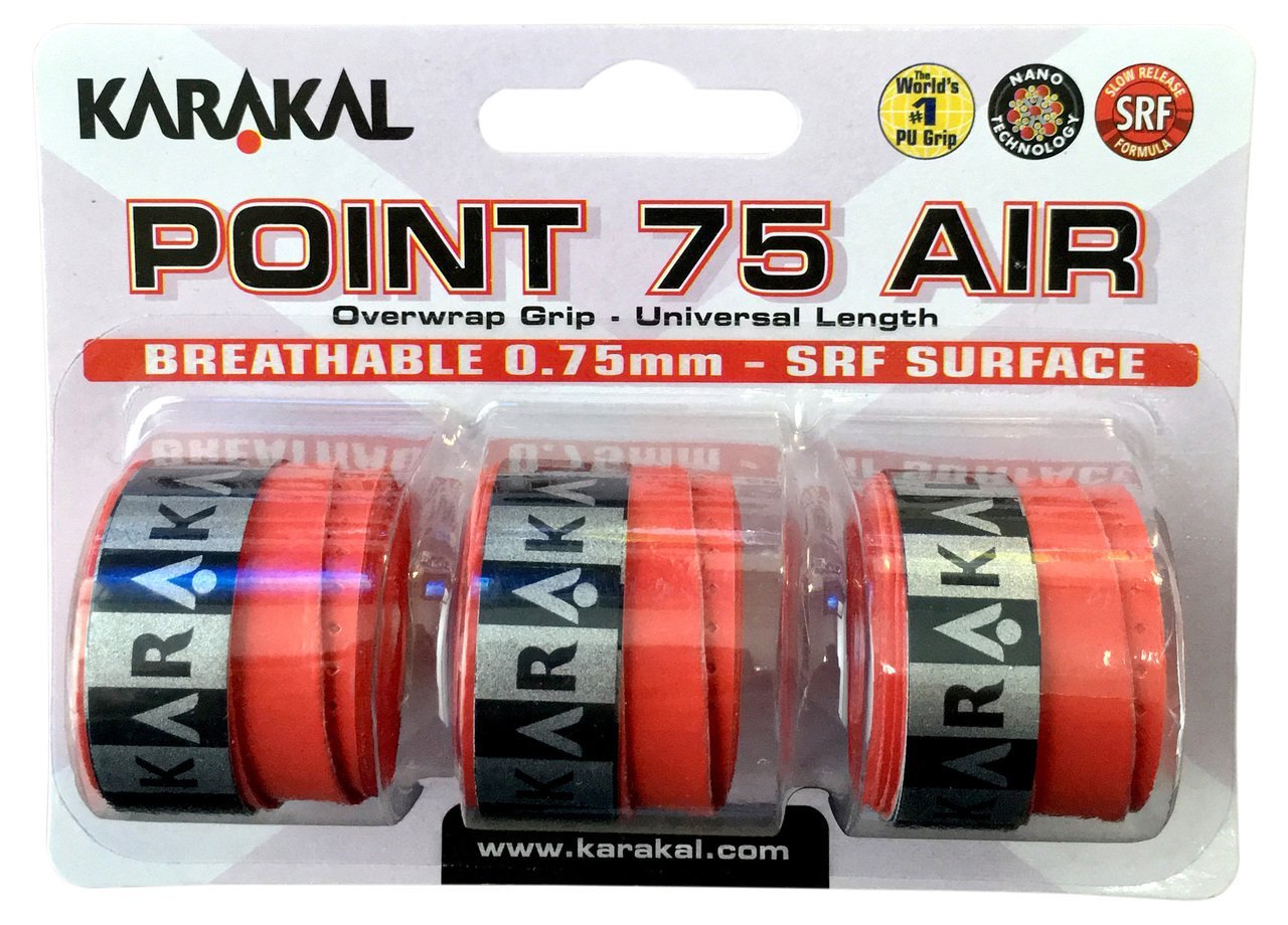 Karakal Point 75 Air Overgrip - Red by Karakal: Amazon.es ...