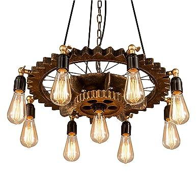 Bronze Farbe Retro Industrie Stil Holz Eisen Hängelampe Vintage ...